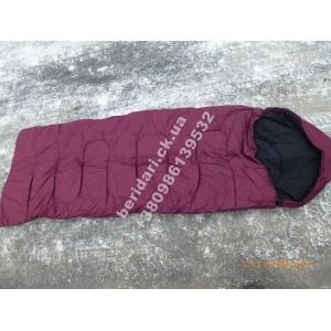 Армейский зимний спальный мешок,флис, (спальник) водонепроницаемый-15°C ― 20°C. цвет Марсала