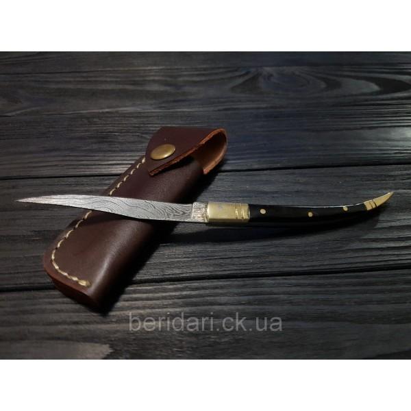 Нож охотничий  складной компактный дамаск s- 38