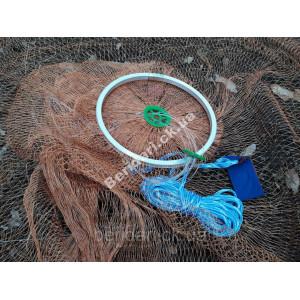 Кастинговая сеть нить алюминиевое кольцо  парашут  4 м диаметр 2м высота ∅16мм  М