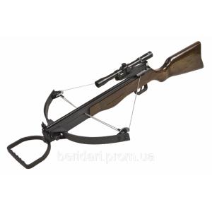 Арбалет блочного типа,винтовочной компановки c прицелом
