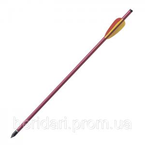 Алюминиевая стрела  для арбалета  44 см , 9 мм