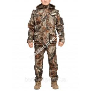 Демисезонный камуфляжный костюм для охоты и рыбалки Листва