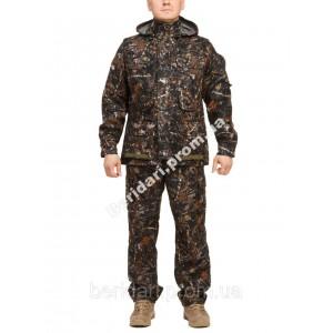"""Демисезонный камуфляжный костюм """"темный лес""""  алова ,мембрана   весна /осень"""