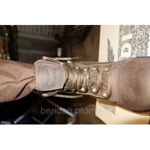 Ботинки с высоким защитным заправляющимся голенищем на теплом меху Коричневые